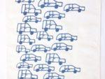 キッチンタオルKierti青い車たち(青)の全体写真