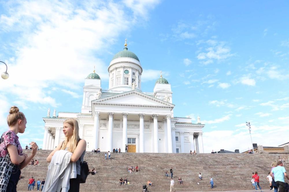 ヘルシンキ大聖堂の正面