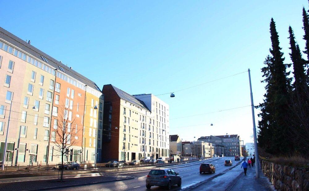 晴れたヘルシンキの市街地