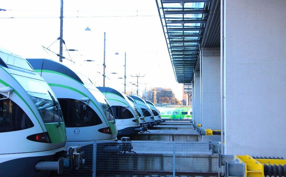 ヘルシンキの通勤列車