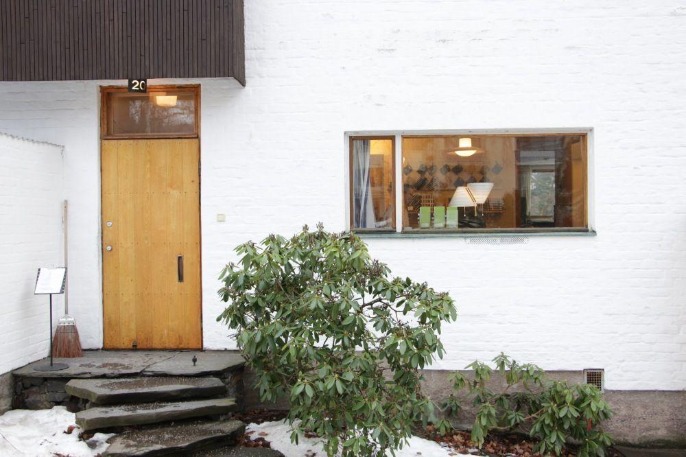 アルヴァ・アールトの自宅の正面ドア