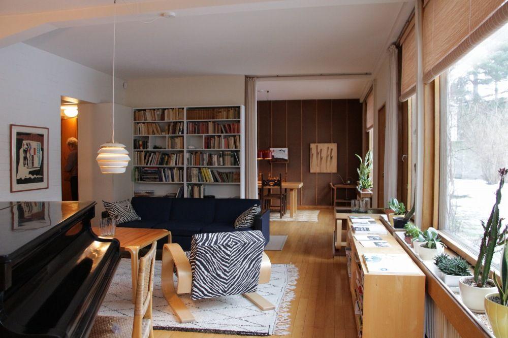 アルヴァ・アールトの自宅のリビングルーム