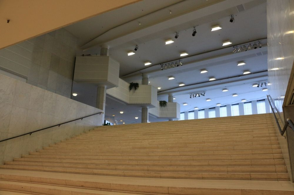 フィンランディアホール演劇場への階段