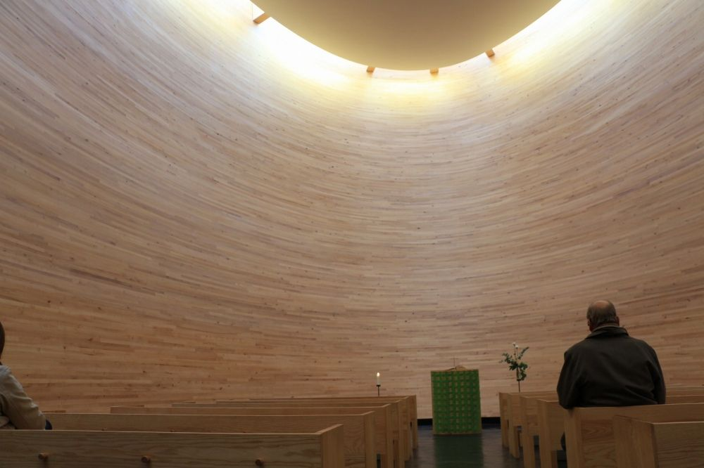 カンッピ静粛の礼拝堂内部
