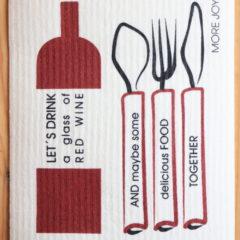 スポンジワイプMore Joyレッドワイン・アンド・ディナーの全体写真