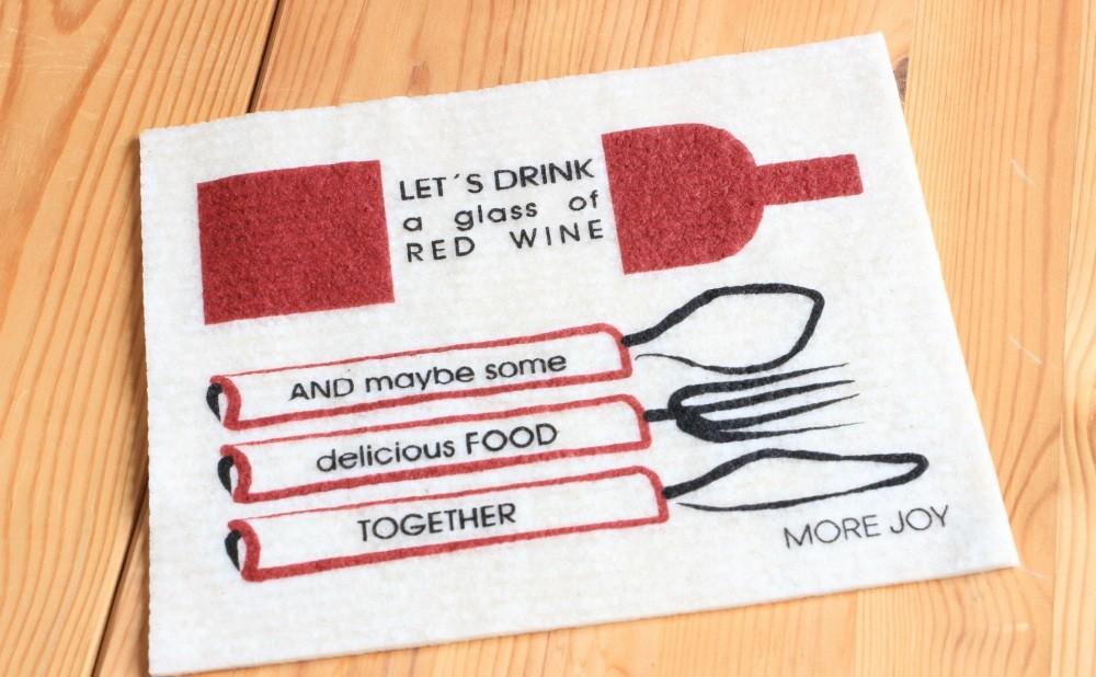 スポンジワイプMore Joyレッドワイン・アンド・ディナーを上から見る