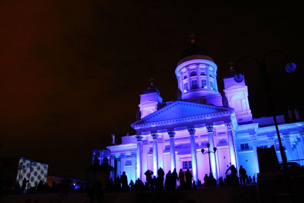 夜のヘルシンキ大聖堂@Lux Helsinkiイベント