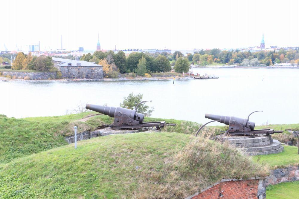 スオメンリンナにある大きいな大砲