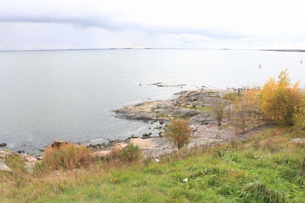 スオメンリンナの最南端から見るフィンランド湾