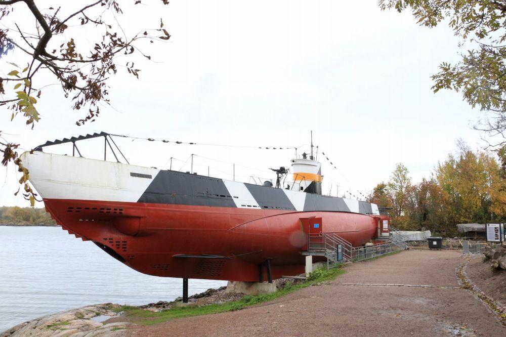 スオメンリンナにある潜水艦Vesikko