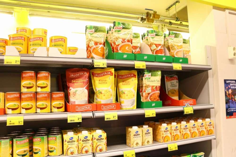 フィンランドのスーパーにあるインスタントスープ