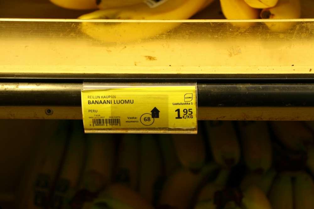 フィンランドのスーパーの値札