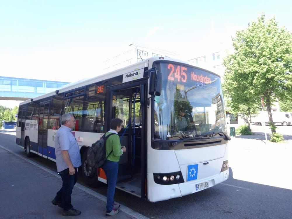エスポー駅からヌークシオ国立公園行きのバス