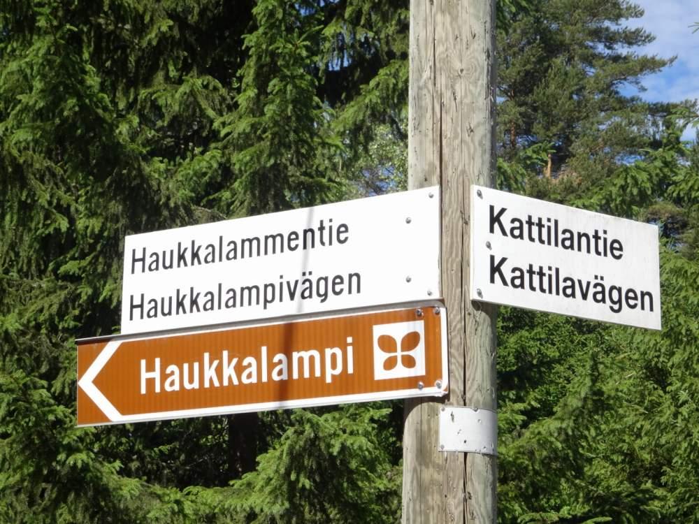 Haukkalampiはヌークシオ国立公園の入り口