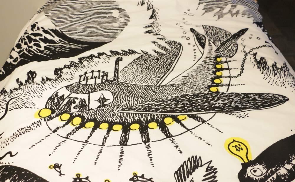 フィンレイソン掛け布団枕カバーセット新海のオーケストラ号ムーミンパパの思い出2017細部画像3
