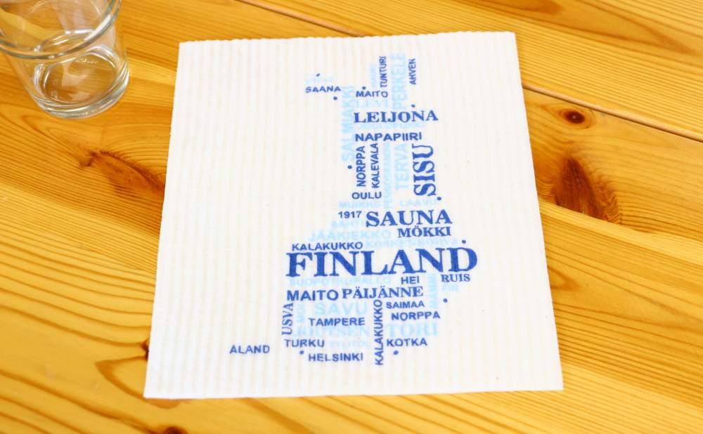 スポンジワイプMore Joyフィンランドを上から見る