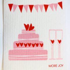 スポンジワイプMore Joyハートケーキ全体写真