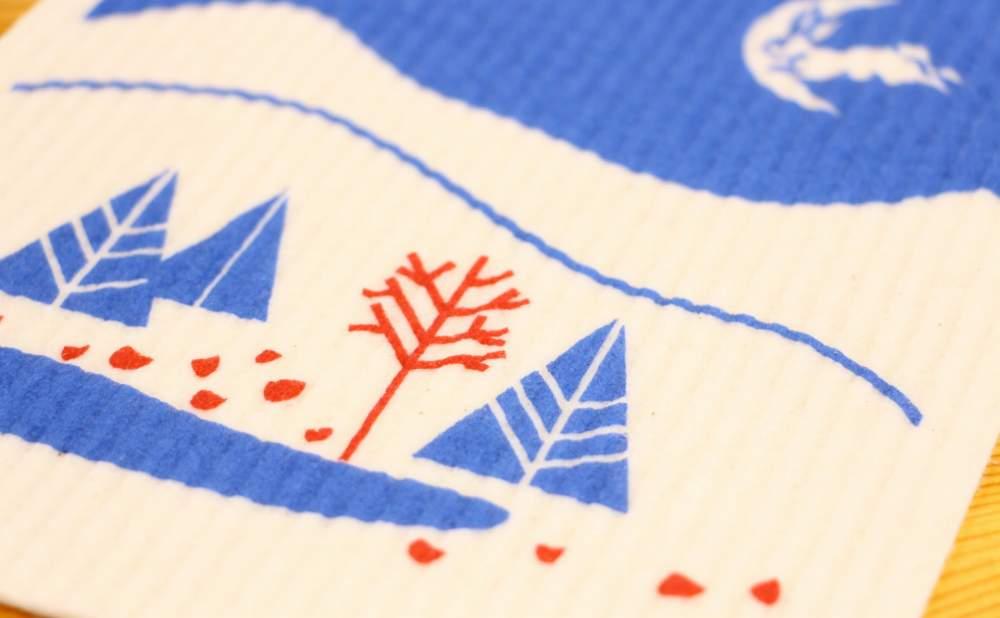 スポンジワイプMore Joy日フィン国交100周年記念ランドスケープオブフレンドシップ細部拡大写真2