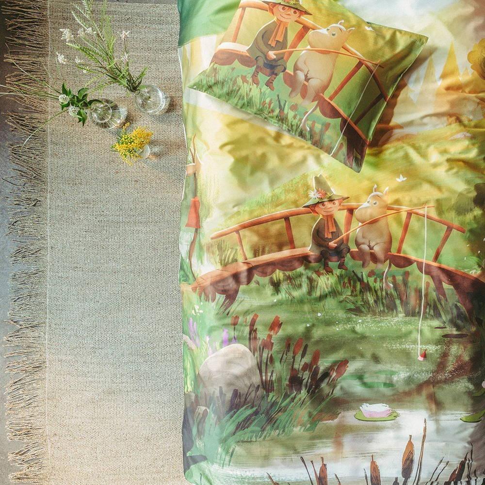 フィンレイソン掛け布団枕カバーセット:ムーミン谷のなかまたち(春)2019部分画像