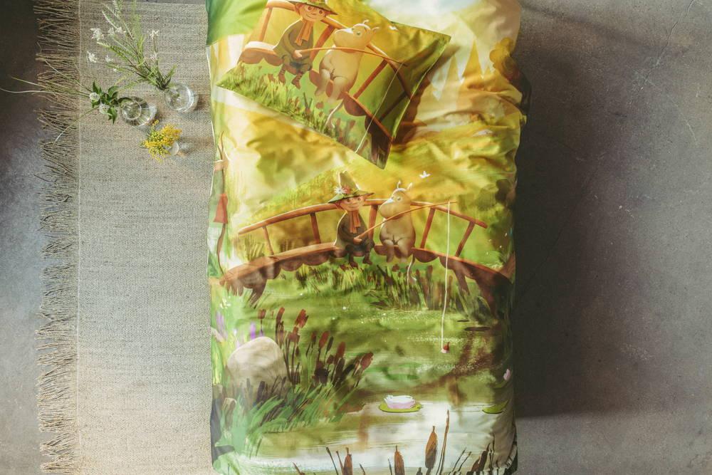 フィンレイソン掛け布団枕カバーセット:ムーミン谷のなかまたち(春)2019中央画像