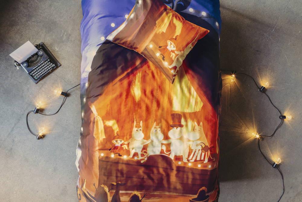 フィンレイソン掛け布団枕カバーセット:ムーミン谷のなかまたち(夏)2019中央画像