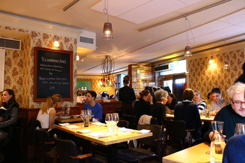 ヘルシンキレストランRavintola Kuuの雰囲気