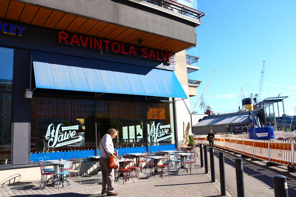 ヘルシンキのレストランSalveの正面外観