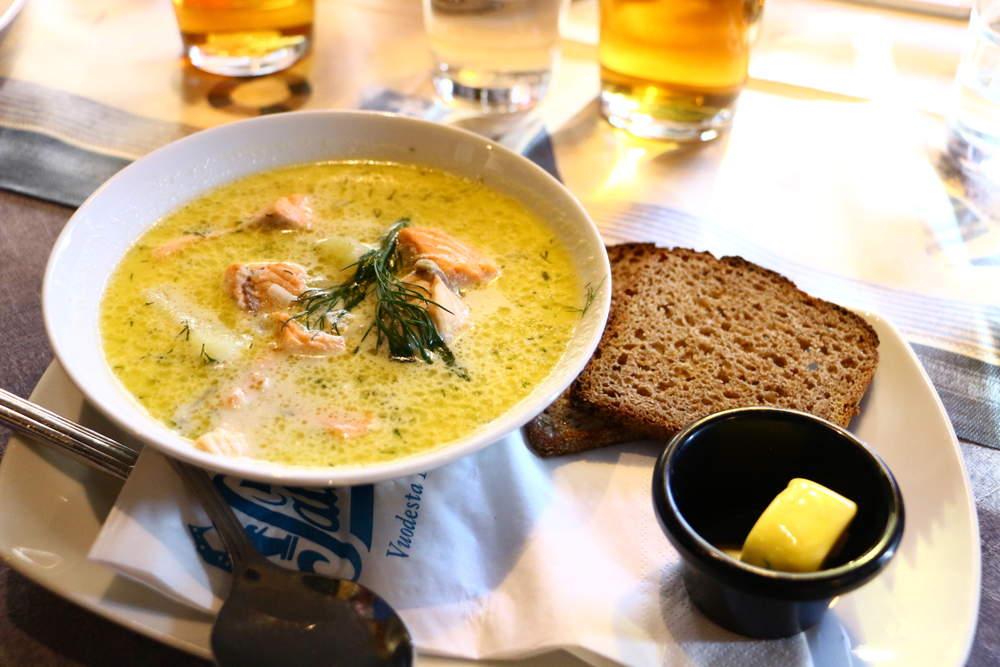 ヘルシンキのレストランSalveのサーモンスープ