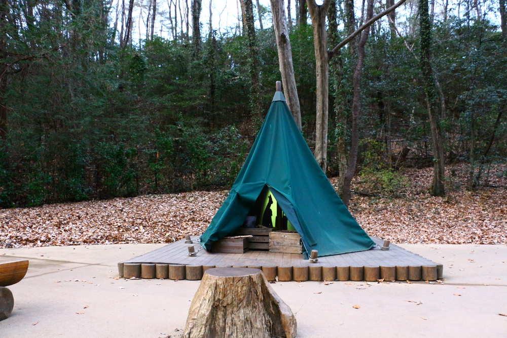 ムーミンバレーパークのスナフキンのテント