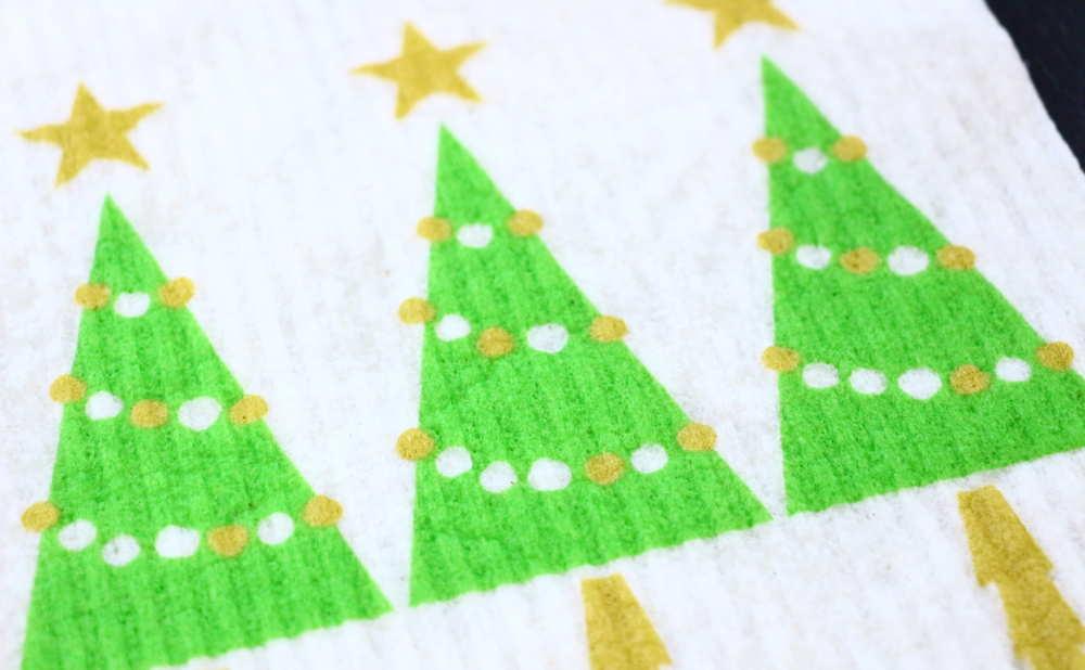 スポンジワイプMore Joyブローズンクリスマスツリーの一部拡大写真