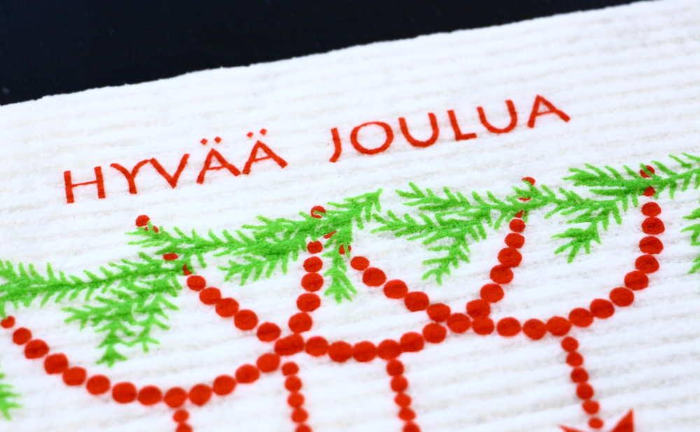 スポンジワイプMore Joyヒュヴァーヨウルアの一部拡大写真