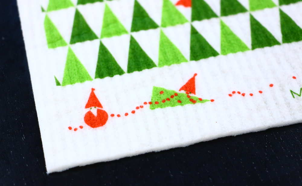 スポンジワイプMore Joyストールンクリスマスツリーの一部拡大写真