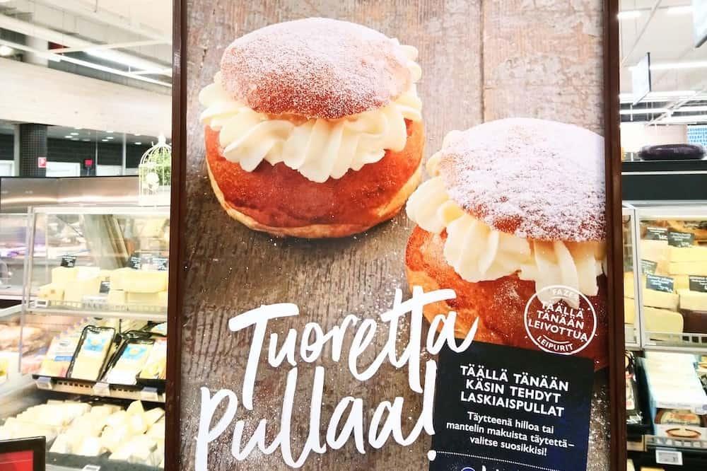 フィンランドのスーパー・セムラの広告