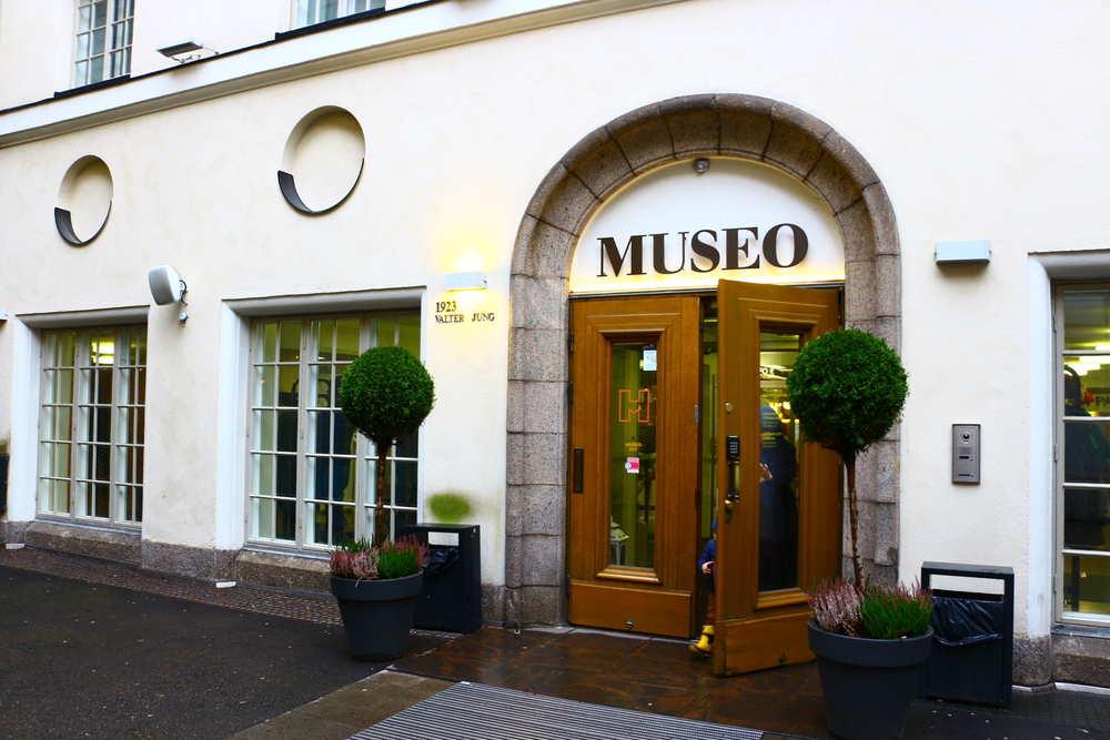 ヘルシンキ市立博物館の正面ドア