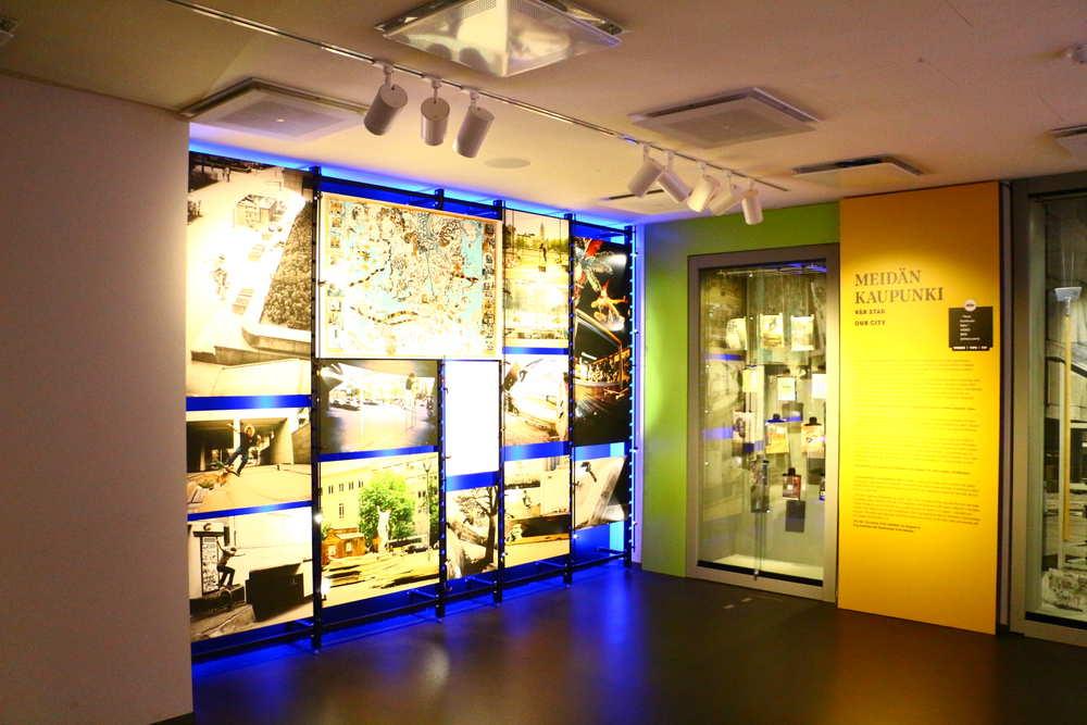 ヘルシンキ市立博物館の写真展示コーナー