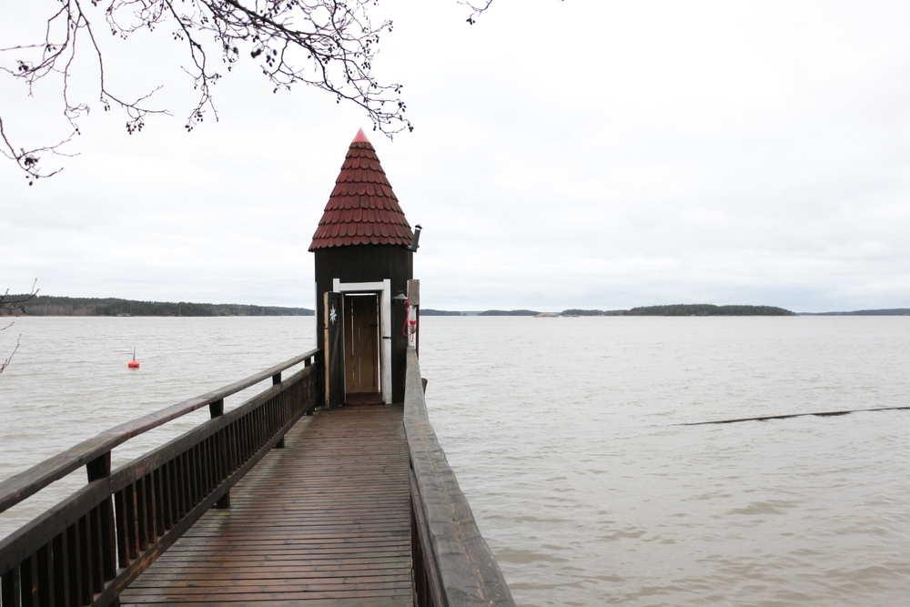 ムーミンワールドの水浴び小屋