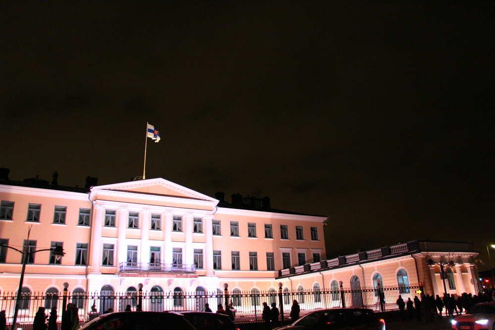 ヘルシンキにあるフィンランド大統領官邸