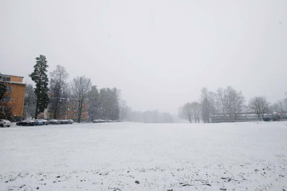 フィンランド・4月下旬の雪景色