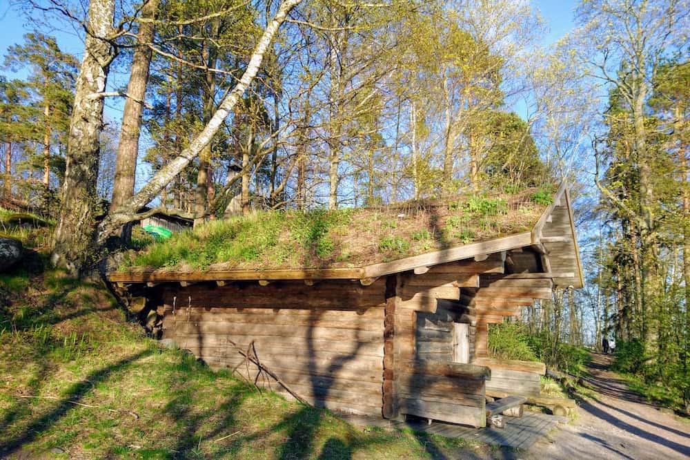 フィンランドの古いスモークサウナ