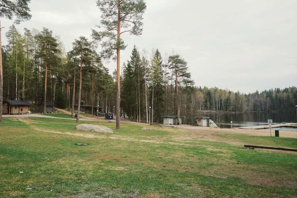 フィンランド・クーシヤルヴィのスモークサウナ周辺