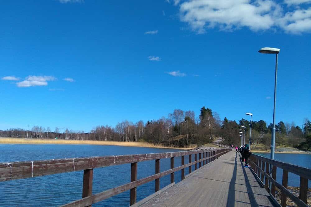 フィンランドの橋の上からの景色